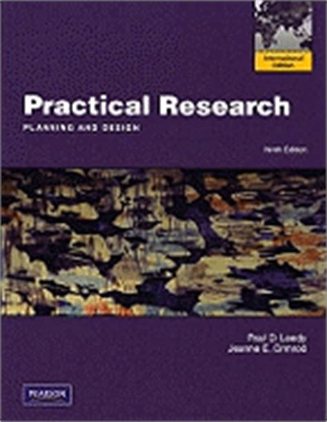 practical research planning and design 11th edition practical research planning and design book by paul d