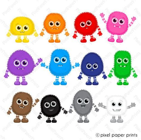 monsters colors color monsters clipart clip and digital