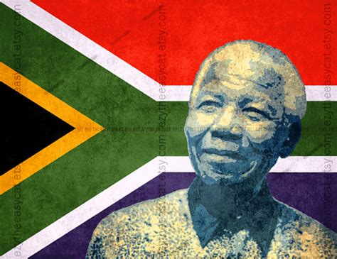biography of nelson mandela of south africa nelson mandela south africa flag invictus print t2