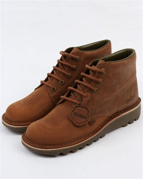 Boots Brown Kickers kickers kick hi boots brown shoe chunky mens