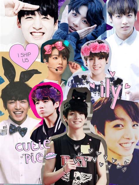 Custom Kpop Bts 8 jungkook collage 사랑해요 collage