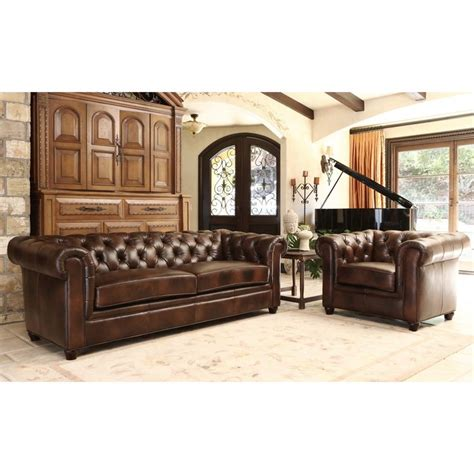 italian leather living room sets abbyson tuscan premium italian leather sofa and armchair