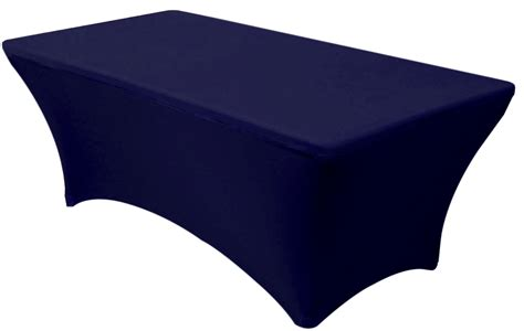 Navy Blue Table L 30x72 6 Foot Navy Blue Fitted Spandex Table Cover