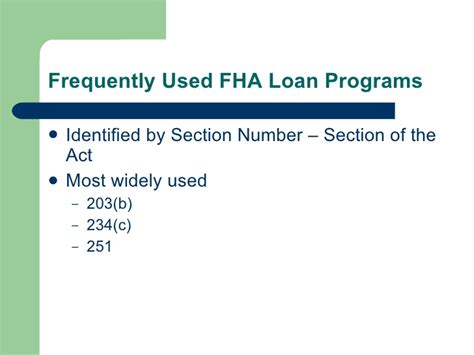 section of the act fha introduction to fha origination