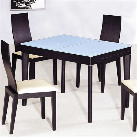 Kitchen With Dining Table | contemporary functional dining room table in black wood