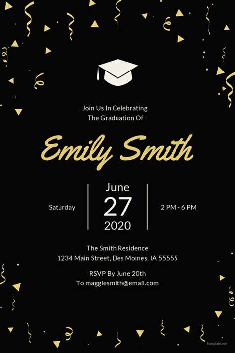 Simple Graduation Card Templates by Graduation Invitation Templates Free Premium Templates