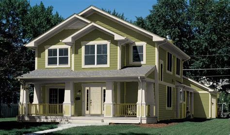 green exterior house paint colors