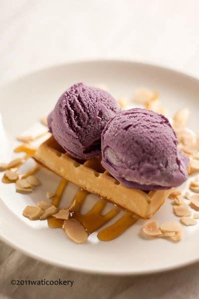 membuat ice cream dari ubi wati cookery es krim ubi ungu purple sweet potato ice cream