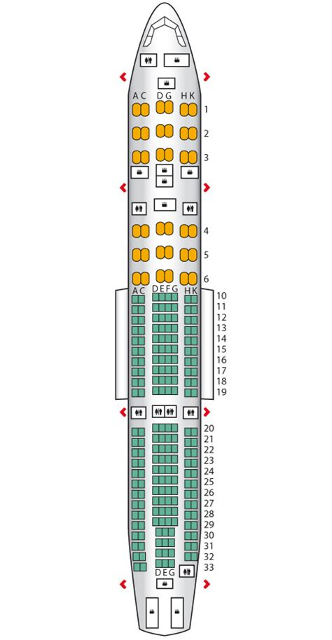garuda plus seat layout executive business airbus a330 200 garuda indonesia