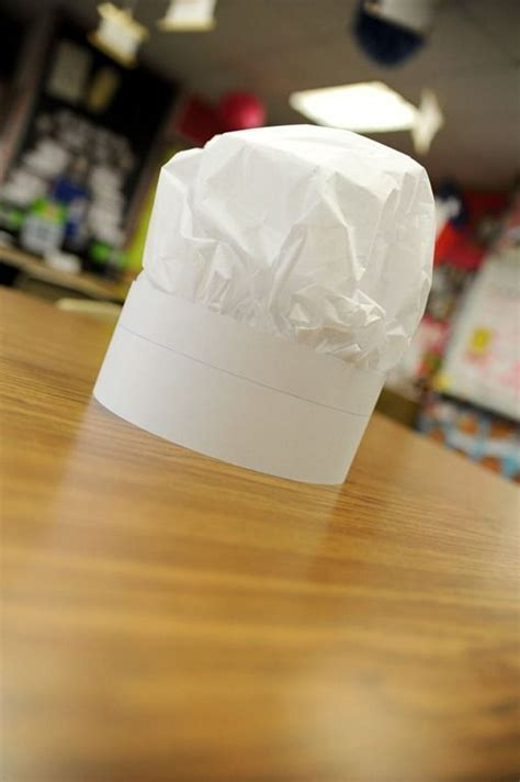 How To Make A Chef Hat With Tissue Paper - synonym chef hat sentence and square of tissue