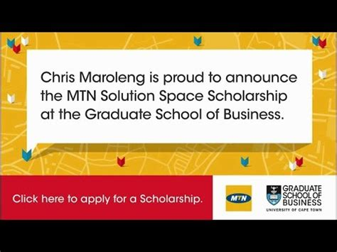Uct Mba Scholarships by Mtn Scholarship 2016