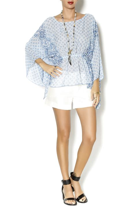 Sleeve Wing Printed Top wing sleeve top from florida by elise shoptiques