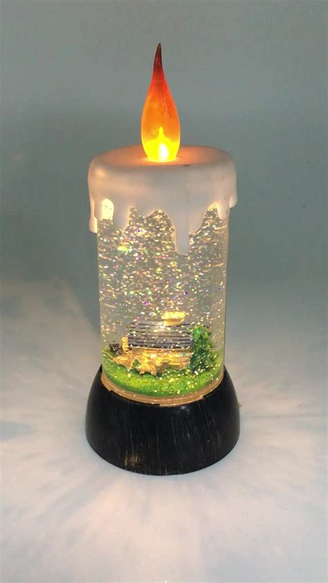 holiday living electric christmas house led candle ls