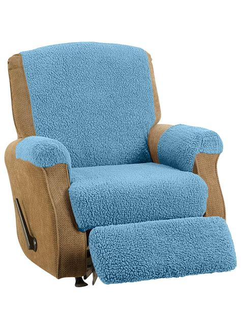 fleece recliner chair covers fleece recliner cover set drleonards com
