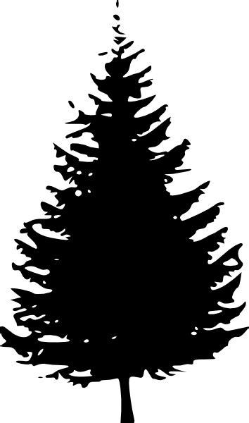 Small Black Pine Tree Clip Art at Clker.com - vector clip