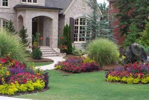 Front Yard Flower Garden As Beautiful World Flowers