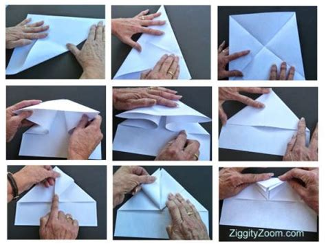 How To Make A Glider Paper Airplane Step By Step - paper airplanes ziggity zoom family