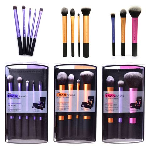 Jual Kuas Makeup Real Techniques real techniques makeup brushes starter kit sculpting powder blush foundation set ebay