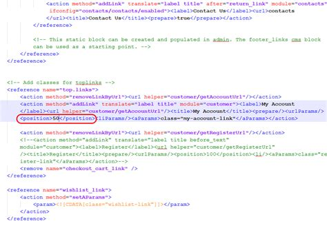 how to change a header for the magento cms or module page magento how to change top header links sort order