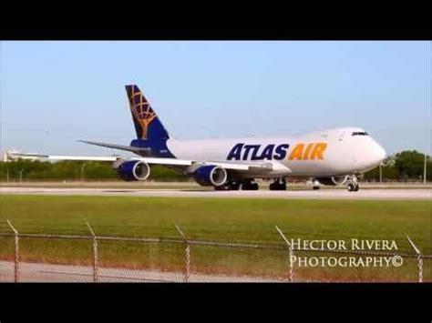 atlas air cargo 747 800 freighter n854gt miami