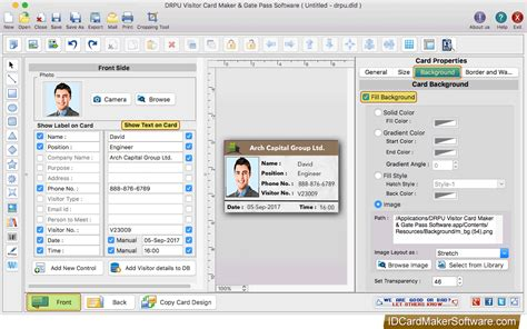 software pattern visitor visitors id cards maker for mac design visitor id card and