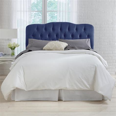 Navy Tufted Headboard by Velvet Navy Tufted Headboard 741fvlvnv The Home Depot