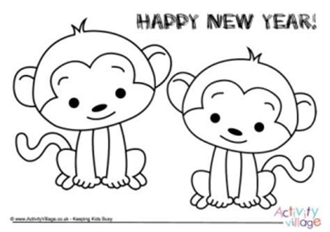 chinese year of the monkey coloring page year of the monkey colouring pages