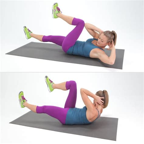 bicycle crunches crunch variations popsugar fitness photo