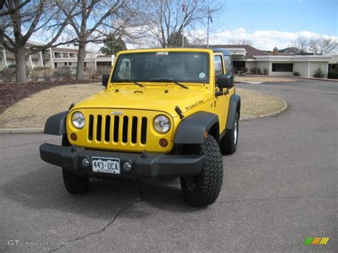 jeep rubicon yellow 2008 detonator yellow jeep wrangler rubicon 4x4 26832468