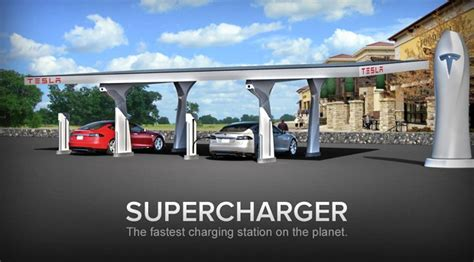 Tesla Supercharge Stations With New Tesla Superchargers Travel Far In An Electric