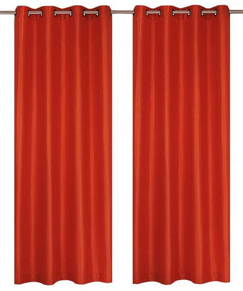 bright orange curtains lj home fashions silkana faux silk 56x88 inch grommet 2