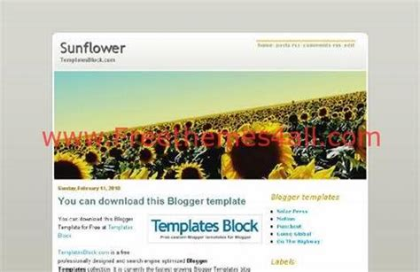 blogger themes yellow free blogger flowers sun yellow template