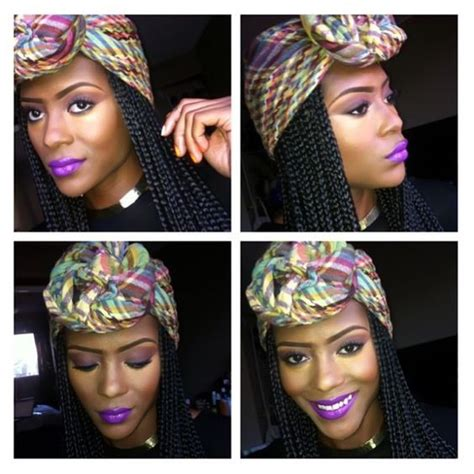How To Wrap African Bareds | protective styles wraps and make up boxes on pinterest