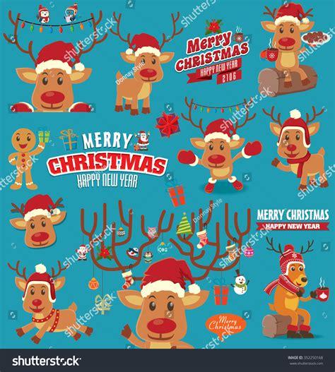 poster design kit vintage christmas poster design set stock vector 352250168