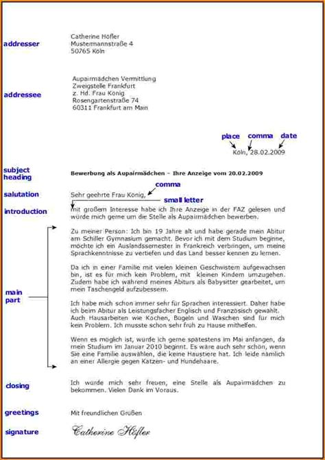 Business Letter Beispiel formeller brief vorlage reimbursement format
