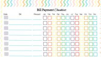 list of bills to pay template best photos of monthly bill checklist printable free
