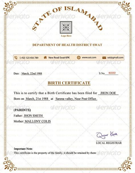 Word Certificate Template 31 Free Download Sles Exles | birth certificate template 31 free word pdf psd