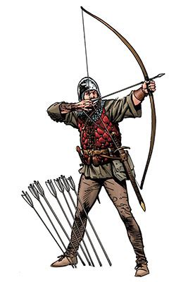libro longbowman vs crossbowman hundred medieval longbow the middle ages facts for kids