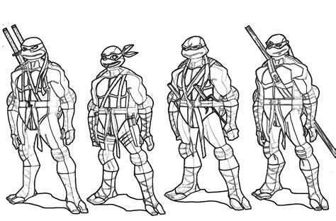 top teenage mutant ninja turtles free coloring pages print