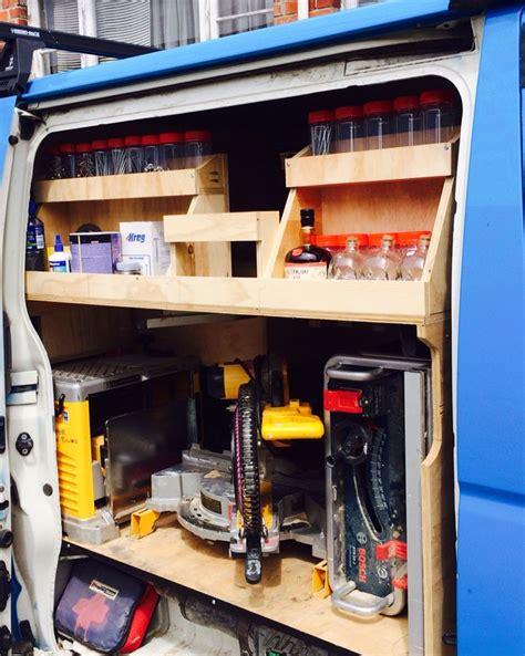 work van layout ideas ply storage carpenter my next work van build