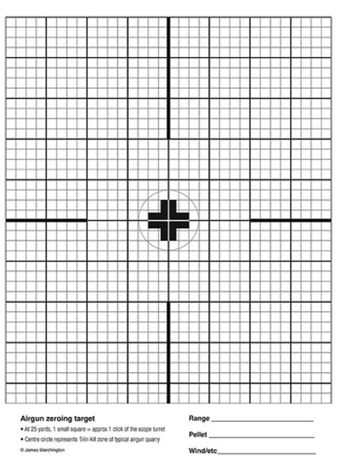 printable targets for zeroing airgun zeroing target flickr photo sharing