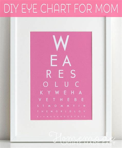 printable eye chart gift 637 best mothers day images on pinterest mother day