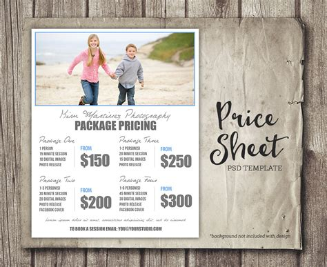 Photography Packages by Photography Package Pricing Photographer Price List