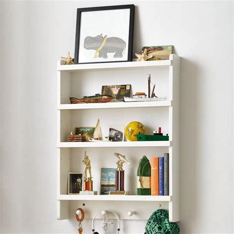 White Wall Rack by Shelves And Wall Cubbies The Land Of Nod