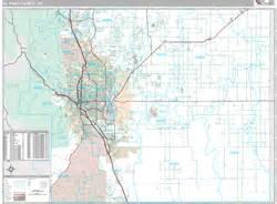 zip code map el paso county el paso county co zip code wall map premium style by