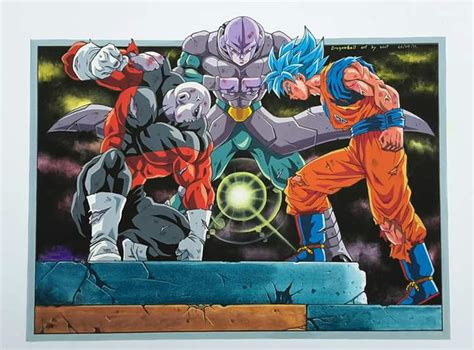 imagenes de goku hit y jiren jiren vs hit vs goku art by soot dbz