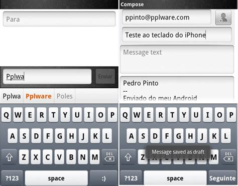 iphone keyboard for android iphone keyboard o teclado do iphone no android pplware