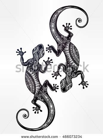 lizard tattoo style stock vector 558400108 shutterstock