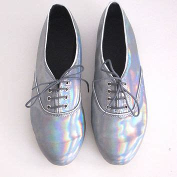 iridescent oxford shoes holographic iridescent faux leather pony from golden ponies