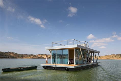 floatwing modular floating house by portugal s friday the floatwing houseboat friday small house bliss